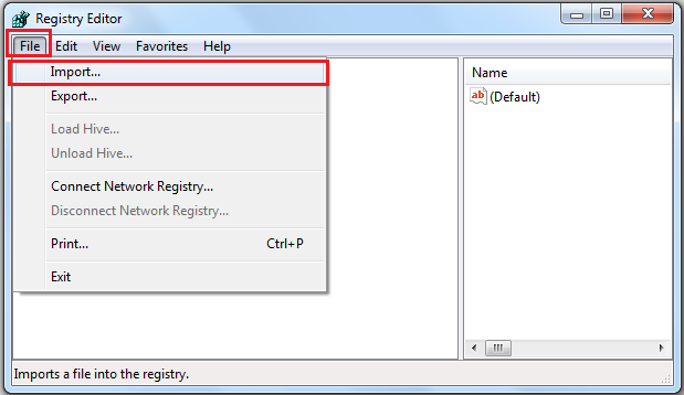 create a backup of the registry