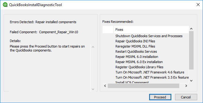 Download and Use QuickBooks Component Repair Tool