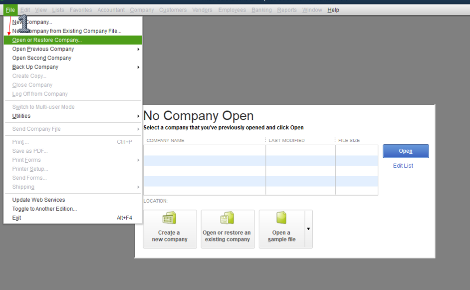 How to Restore QuickBooks Backup File