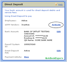 Activate and use QuickBooks Direct Deposit