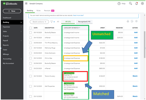 How to Unmatch a Transaction in QuickBooks Online?