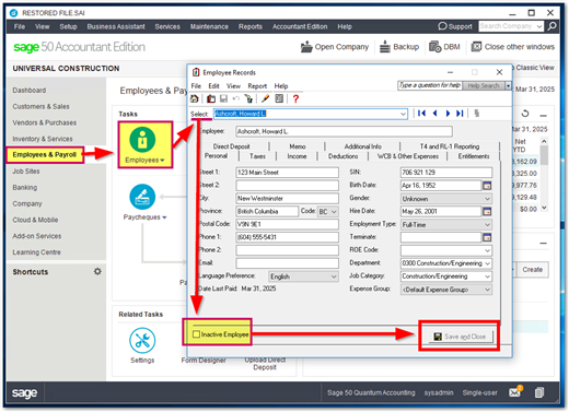 How to Setup the Payroll Module in Sage?